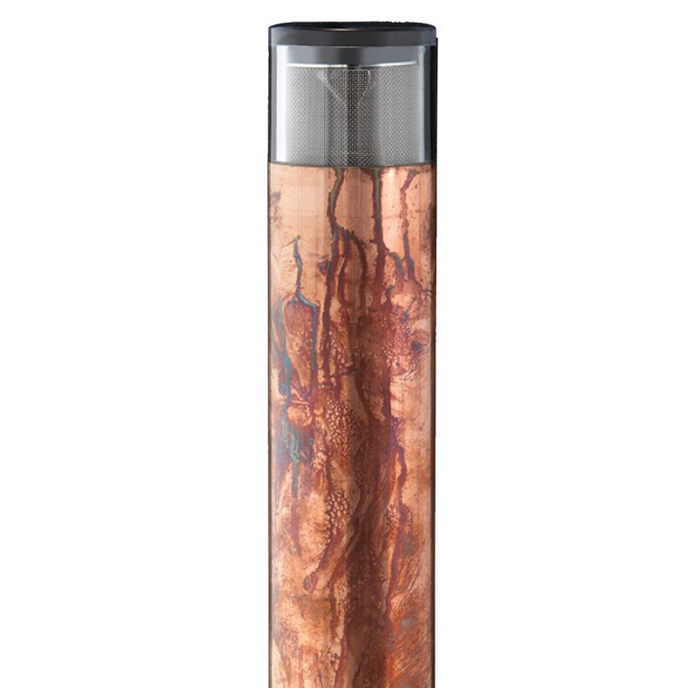 Hunza Path Light Bollard 300 copper