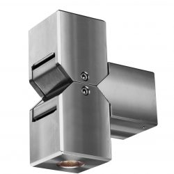 Hunza Cube Pillar light stainless