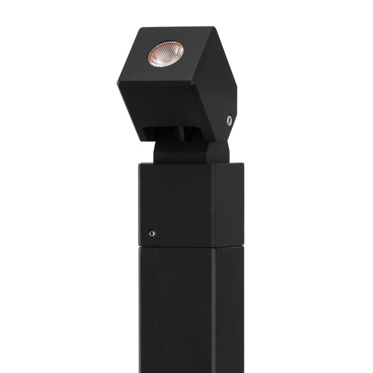 Black Cube Pole Spot Light